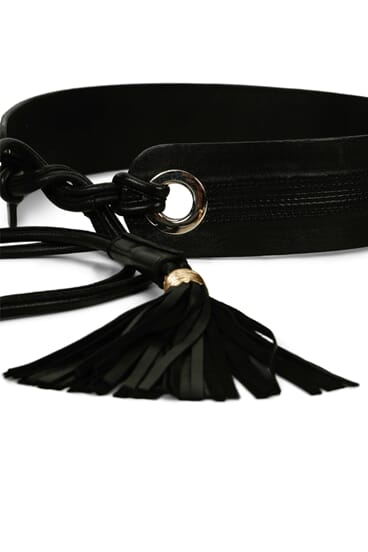 Giselle black leather belt
