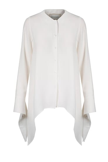 Chloe off-white silk stretch blouse