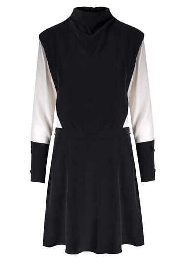 Nova monochrome silk stretch dress