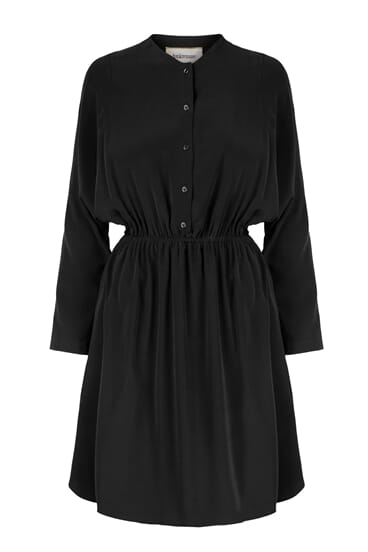 Naomi button-front silk stretch dress