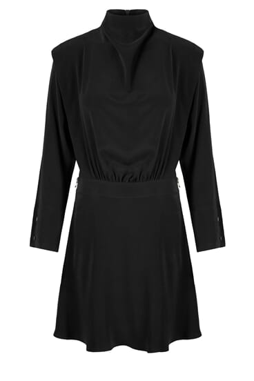 Nova black silk stretch dress
