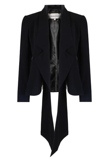 Eden black silk stretch blazer